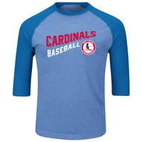 MLB Men's St. Louis Cardinals Bases Loaded 3/4 Sleeve T-Shirt from Blain's Farm and Fleet