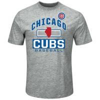 MLB Men's Gray & Royal Blue Short Sleeve Chicago Cubs Endurance Factor T-Shirt from Blain's Farm and Fleet