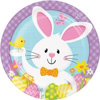 Creative Converting Bunny Business Dinner Plates from Blain's Farm and Fleet