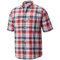 Columbia Sportswear Company XL Super Bahama S/S Shirt Pld Sun Red from Blain's Farm and Fleet