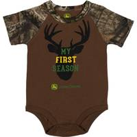 John Deere Boys' Camouflage Short Sleeve My First Season Bodysuit from Blain's Farm and Fleet