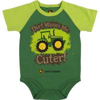 John Deere Boys' Green Short Sleeve Dirt Makes Me Cute Bodysuit from Blain's Farm and Fleet