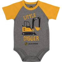 John Deere Boys' Yellow Short Sleeve Lil Digger Bodysuit from Blain's Farm and Fleet