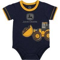 John Deere Boys' Navy & Yellow Short Sleeve Construction Bodysuit from Blain's Farm and Fleet