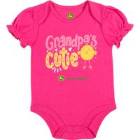 John Deere Girls' Magenta Short Sleeve Grandpa's Cutie Bodysuit from Blain's Farm and Fleet