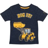 John Deere Boys' Navy Heather Short Sleeve Dig It Tee Shirt from Blain's Farm and Fleet