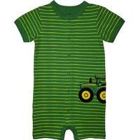 John Deere Boys' Green Short Sleeve Tractor Striped Romper from Blain's Farm and Fleet