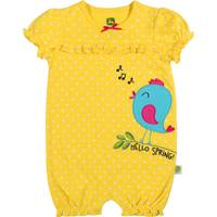John Deere Girls' Yellow Short Sleeve Hello Spring Romper from Blain's Farm and Fleet