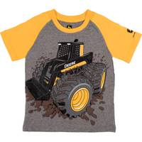 John Deere Boys' Grey & Yellow Skid Steer Tee Shirt from Blain's Farm and Fleet