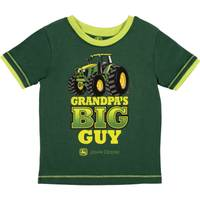 John Deere Boys' Dark Green Short Sleeve Grandpa's Big Guy Tee Shirt from Blain's Farm and Fleet