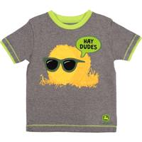 John Deere Boys' Grey & Lime Short Sleeve Hay Dudes Tee Shirt from Blain's Farm and Fleet