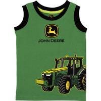 John Deere Boys' Green Tractor Wagon Muscle Tee Shirt from Blain's Farm and Fleet