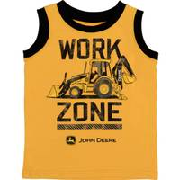 John Deere Boys' Yellow & Black Work Zone Muscle Tee Shirt from Blain's Farm and Fleet