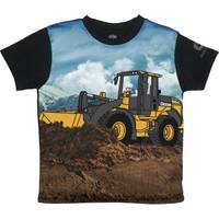 John Deere Boys' Black Short Sleeve Bulldozer Tee Shirt from Blain's Farm and Fleet
