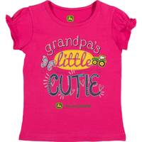 John Deere Girls' Magenta Short Sleeve Grandpa's Lil Cutie Tee Shirt from Blain's Farm and Fleet