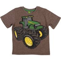 John Deere Little Boys' Brown Heather Short Sleeve Large Tread Tee Shirt from Blain's Farm and Fleet