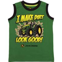 John Deere Little Boys' Green Short Sleeve I Make Dirt Look Good Muscle Tee Shirt from Blain's Farm and Fleet