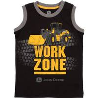 John Deere Little Boys' Black Short Sleeve Work Zone Muscle Tee Shirt from Blain's Farm and Fleet