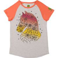 John Deere Little Girls' Coral Short Sleeve Country Horse Tee Shirt from Blain's Farm and Fleet