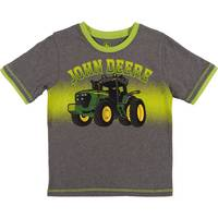 John Deere Little Boys' Grey & Lime Short Sleeve Tee Shirt from Blain's Farm and Fleet