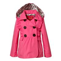 iXtreme Toddler Girl's Pink Ruffled Trench Coat from Blain's Farm and Fleet