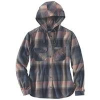 Carhartt Women's Beartooth Hooded Flannel Shirt from Blain's Farm and Fleet