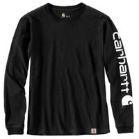 Carhartt 2X MS Workwear L/S Slv Logo Tee Black from Blain's Farm and Fleet