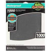 Gator Waterproof Ultra Fine Sandpaper 5-Pack from Blain's Farm and Fleet