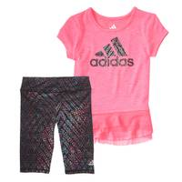 Adidas Girls' Purple 2-Piece Energy Capri Set from Blain's Farm and Fleet