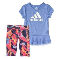 Adidas Girls' 2-Piece Energy Capri Set from Blain's Farm and Fleet