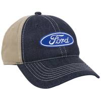 Outdoor Cap Men's Navy & Khaki Ford Logo Denim Cap from Blain's Farm and Fleet