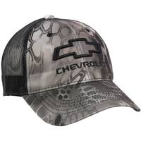 Outdoor Cap Men's Red & Black Chevy Logo Camouflage Meshback Cap from Blain's Farm and Fleet