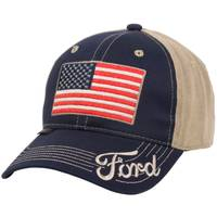 Outdoor Cap Men's Navy & Khaki Ford Americana Logo Cap from Blain's Farm and Fleet