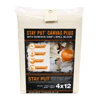 Trimaco Stay Put Plus Slip-Resistant Canvas Drop Cloth from Blain's Farm and Fleet