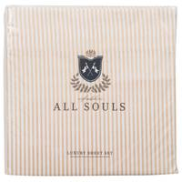 Northpoint Trading All Souls Stripe Sheet Set Stone Queen from Blain's Farm and Fleet