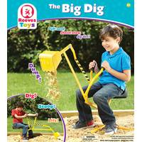 Reeves Toys The Big Dig Metal Digger from Blain's Farm and Fleet