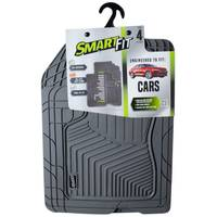 Smart Fit 4-Piece Grey Rubber Car Floor Mat Set from Blain's Farm and Fleet