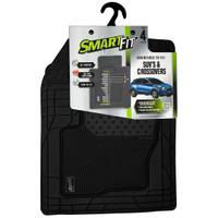 Smart Fit 4-Piece Black Rubber SUV & Crossover Floor Mat Set from Blain's Farm and Fleet