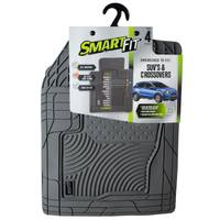 Smart Fit 4-Piece Grey Rubber SUV & Crossover Floor Mat Set from Blain's Farm and Fleet