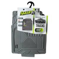 Smart Fit 3-Piece Grey Rubber Truck Floor Mat Set from Blain's Farm and Fleet