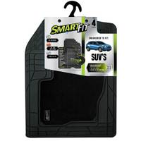Smart Fit 4-Piece Black Rubber Carpet SUV Floor Mat Set from Blain's Farm and Fleet