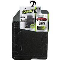 Smart Fit 4-Piece Black Carpet Car Floor Mat Set from Blain's Farm and Fleet