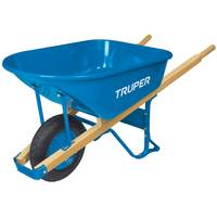 Truper 6 Cubic Feet Flat Free Steel Contracator Wheelbarrow from Blain's Farm and Fleet