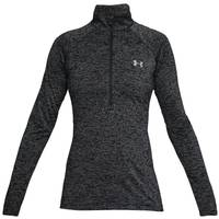 Under Armour Misses Black Twist 1/2 Zip Long Sleeve Shirt from Blain's Farm and Fleet