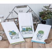 Kay Dee Designs Garden Succulents Flour Sack Towel Assortment from Blain's Farm and Fleet