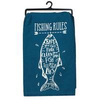 Kay Dee Designs Fishing Rules Flour Sack Towel from Blain's Farm and Fleet