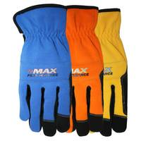 MidWest Gloves Men's Max Performance Synthetic Leather Spandex Gloves Assortment from Blain's Farm and Fleet