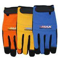 MidWest Gloves Men's Synthetic Leather Palm Spandex Velcro Gloves Assortment from Blain's Farm and Fleet