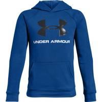 Under Armour Boys' Blue Rival UA Logo Hoodie from Blain's Farm and Fleet
