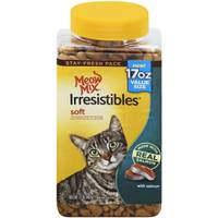9 Lives 17 oz Meow Mix Irresistibles Soft Salmon Cat Treats from Blain's Farm and Fleet